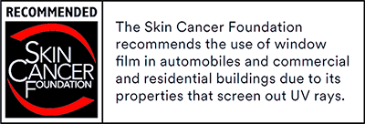 Skin Cancer Foundation Logo Black Red 400 Fine Line Glass Tinting